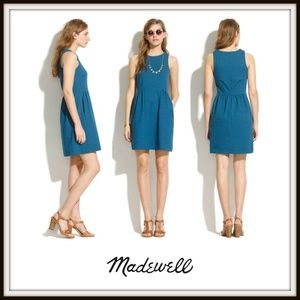 Madewell Blue Keynote Sleeveless Ponte Dress
